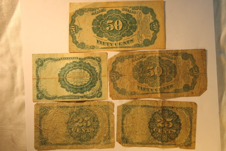 2-50 Dollar Confederate & Fractional Bank Currency - 5