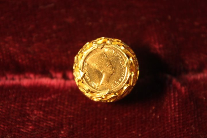 18kt Setting w/Gold Coin Inset