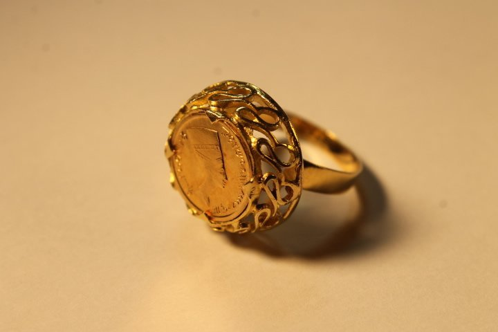 18kt Setting w/Gold Coin Inset - 2