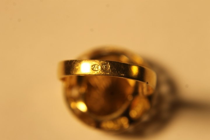 18kt Setting w/Gold Coin Inset - 7