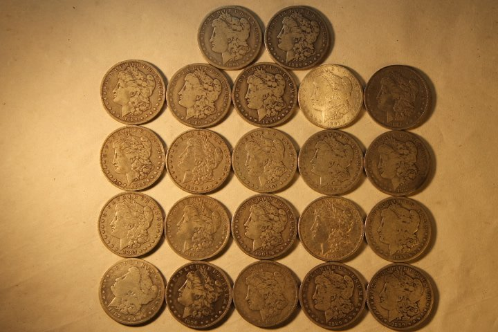 22 US Morgan Silver Dollars