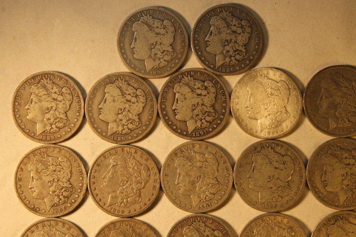 22 US Morgan Silver Dollars - 2