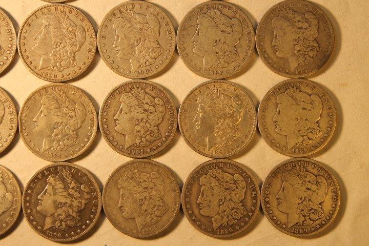 22 US Morgan Silver Dollars - 3