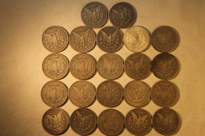22 US Morgan Silver Dollars - 4