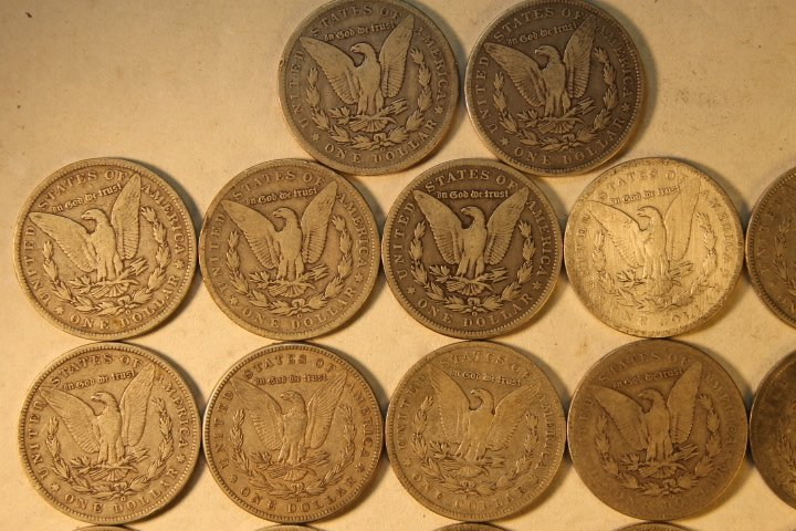 22 US Morgan Silver Dollars - 5