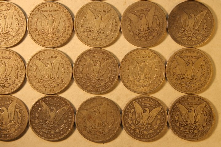 22 US Morgan Silver Dollars - 6
