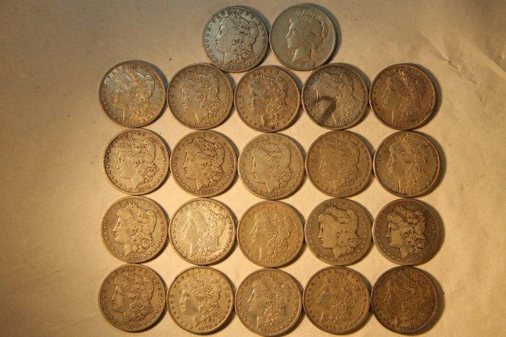 22 US Silver Dollars