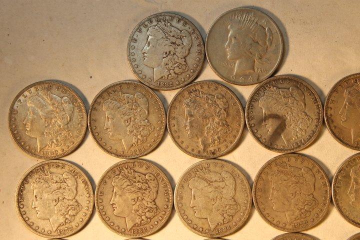 22 US Silver Dollars - 2