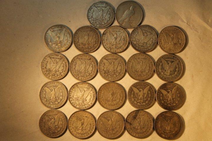 22 US Silver Dollars - 4