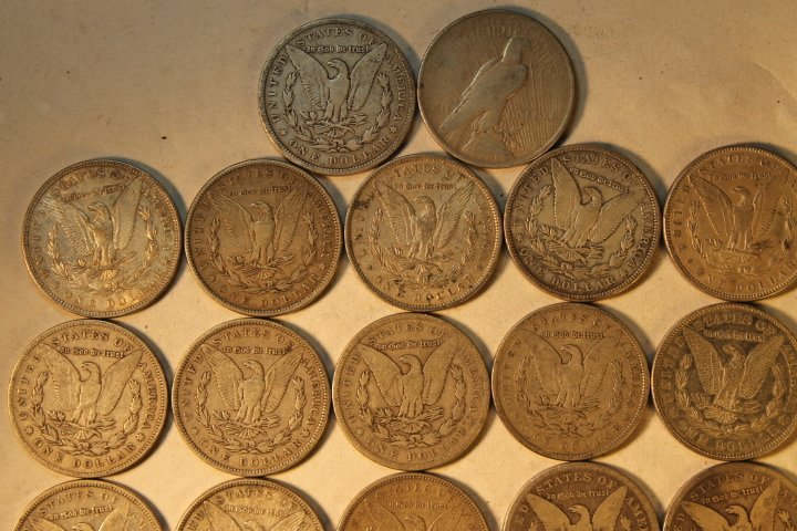 22 US Silver Dollars - 5