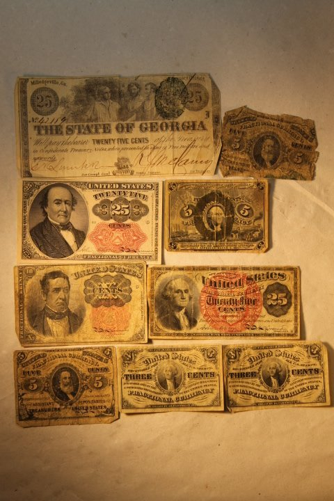 US Fractional Currency, 9 pcs