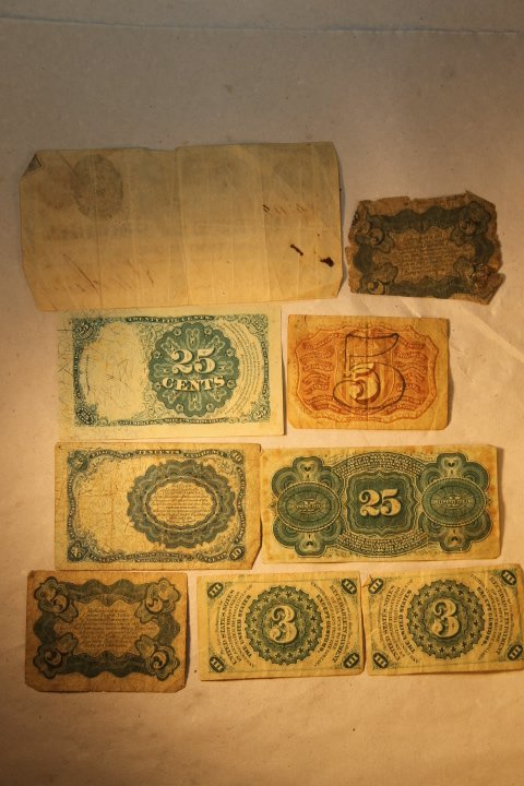 US Fractional Currency, 9 pcs - 4