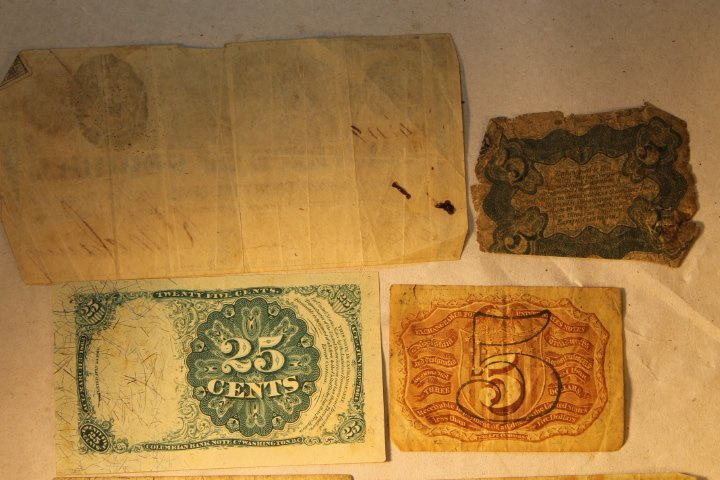 US Fractional Currency, 9 pcs - 5