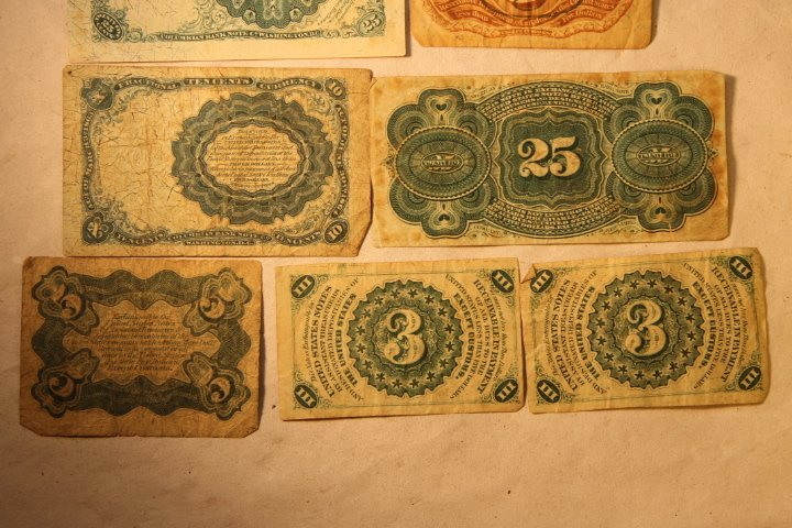 US Fractional Currency, 9 pcs - 6