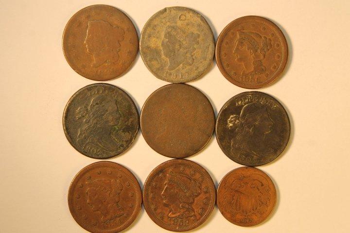9 Pcs, Copper Cents