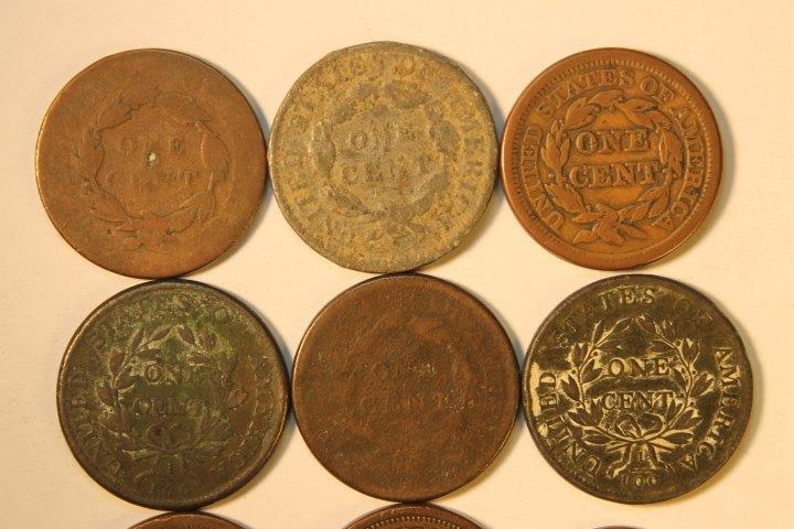 9 Pcs, Copper Cents - 5