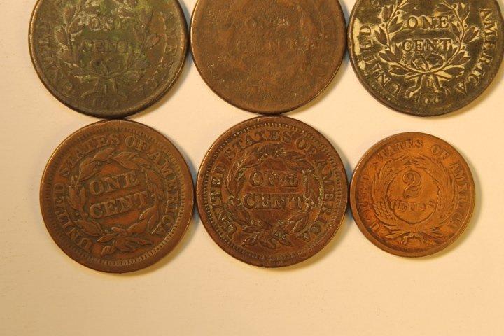 9 Pcs, Copper Cents - 6