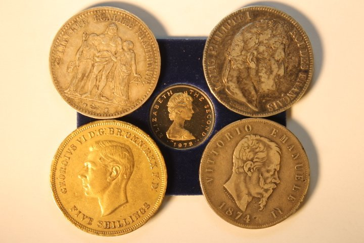 5 Foreign Coins