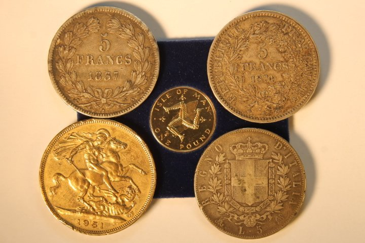 5 Foreign Coins - 2