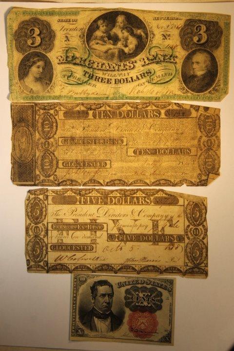 Early 1800's Bank Notes, 2 Civil War Era