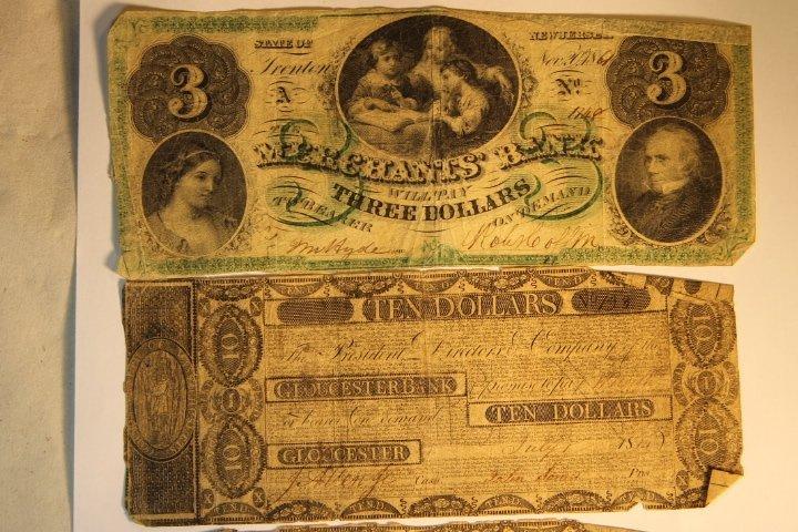Early 1800's Bank Notes, 2 Civil War Era - 2