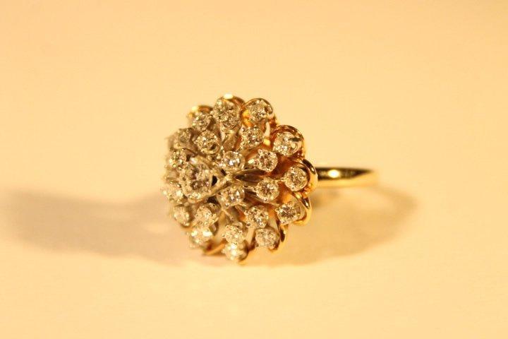 Mid Modern Diamond Snowball Ring