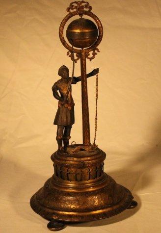 Blackamoor Globe Clock 18th Century