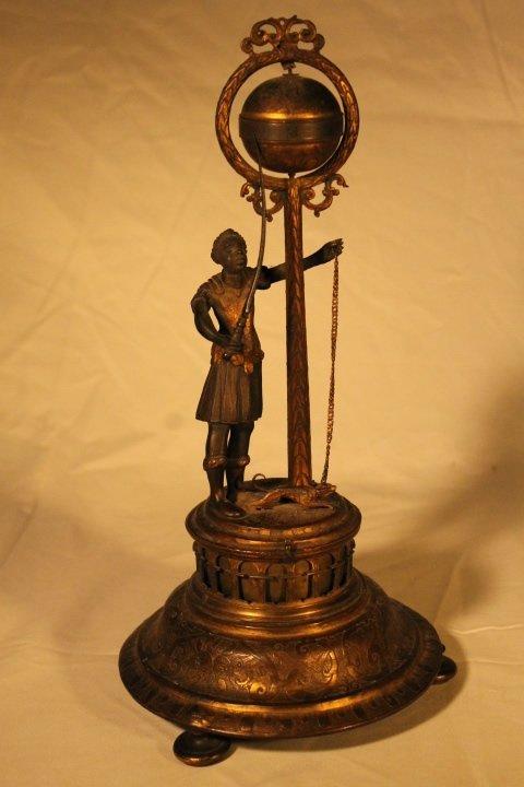 Blackamoor Globe Clock 18th Century - 2