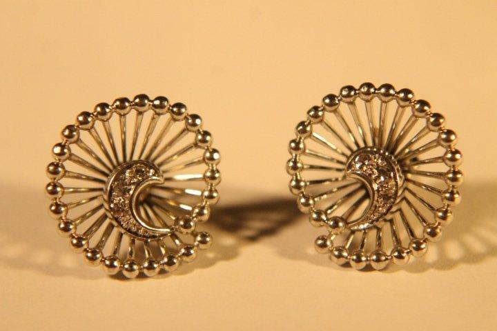 14kt White Gold & Diamond Earrings