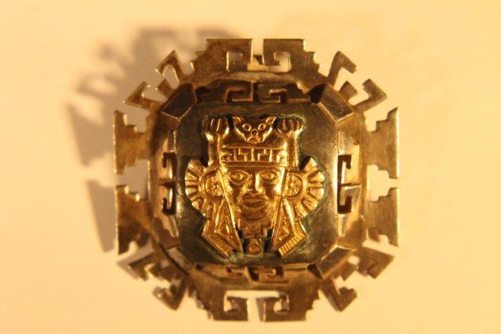 925 &18kt Gold Brooch Pin/Pendant