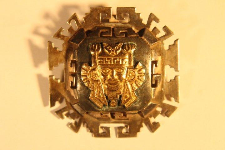 925 &18kt Gold Brooch Pin/Pendant - 2