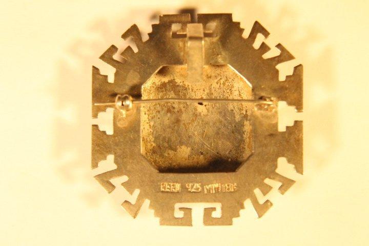 925 &18kt Gold Brooch Pin/Pendant - 3