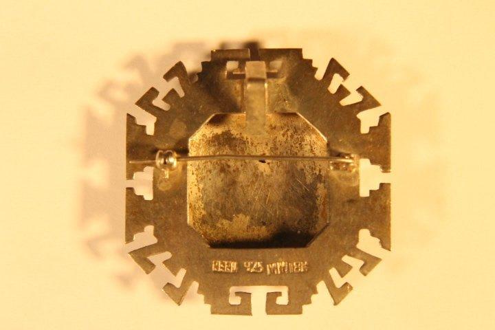 925 &18kt Gold Brooch Pin/Pendant - 4