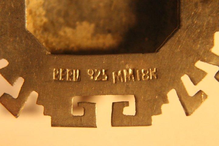 925 &18kt Gold Brooch Pin/Pendant - 5