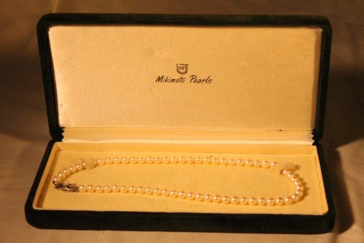 Mikimoto Pearls in Box