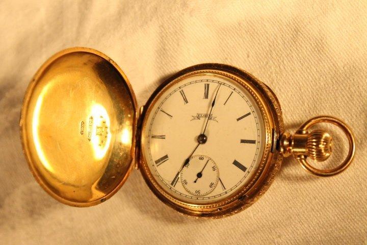 Elgin 14kt Gold Dueber Case w/Diamond - 3