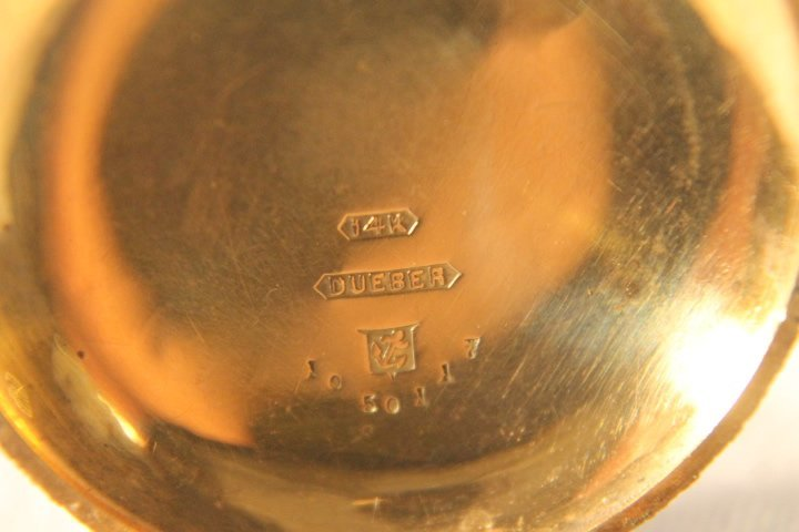 Elgin 14kt Gold Dueber Case w/Diamond - 5