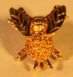 Bee Shape 14kt Gold Brooch pin - 2