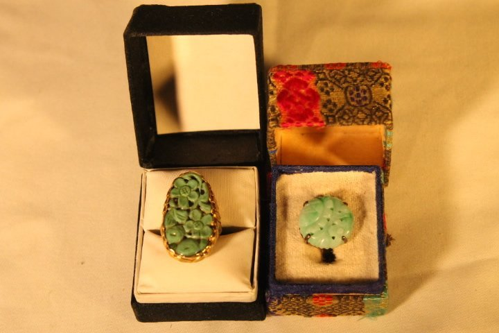 2-14kt Gold Asian Rings