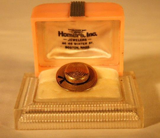 15kt Gold Hat Ring, Original Homers Box - 2
