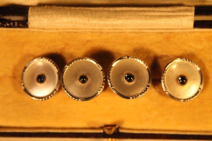 Set of 4 14kt Gold Men's Shirt Buttons