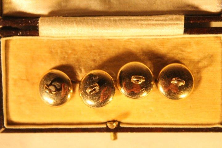 Set of 4 14kt Gold Men's Shirt Buttons - 3