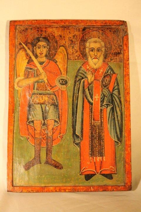 Icon on Wood Panel