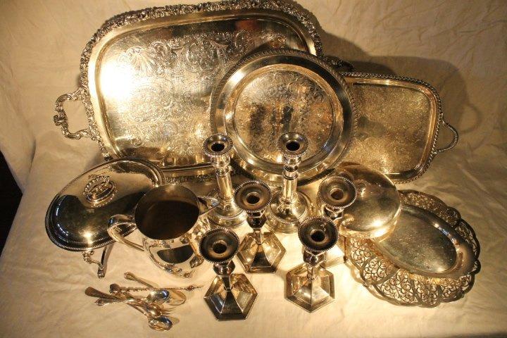 Box Lot of Silverplate - 2