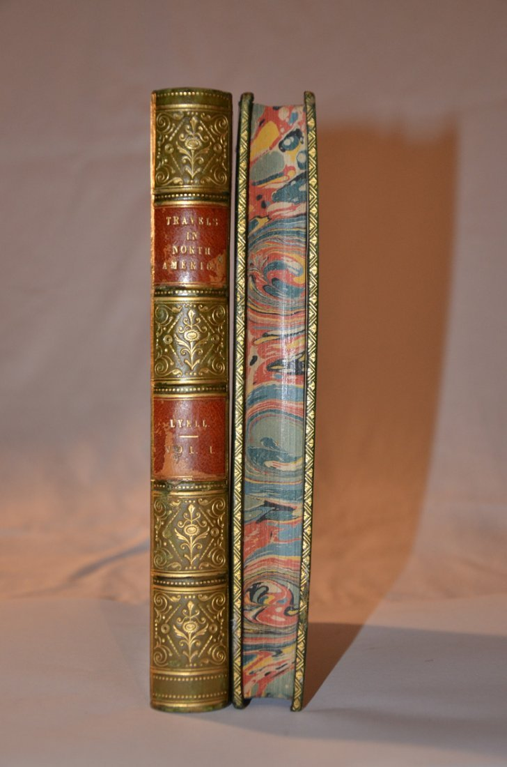184: Lyell's Travels. First Edition. Complete with Fold - 2