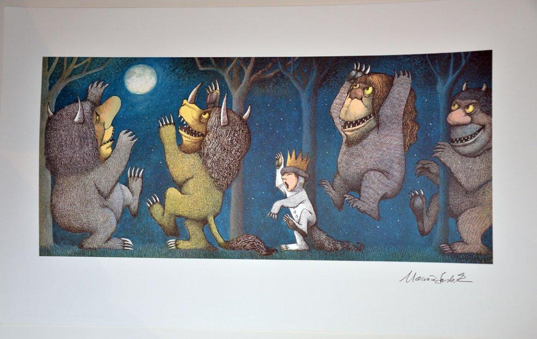 406: Maurice Sendak Signed Max Howling at Moon