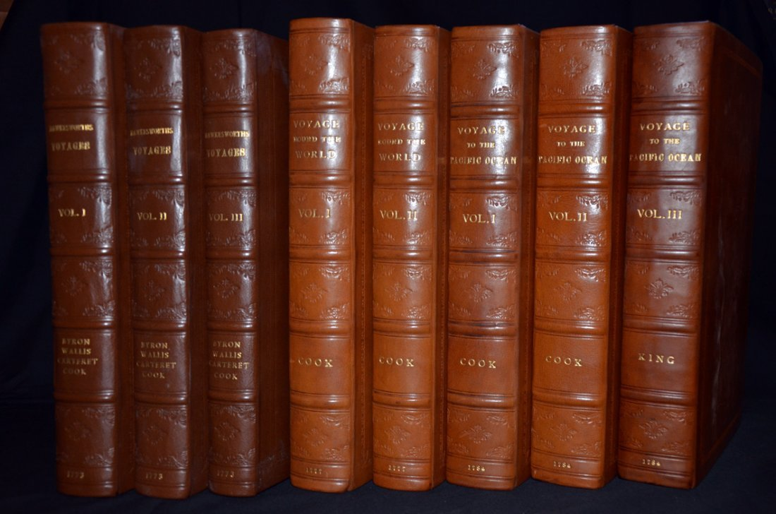 6: Set of Cook's Voyages 8 Volumes NO Atlas