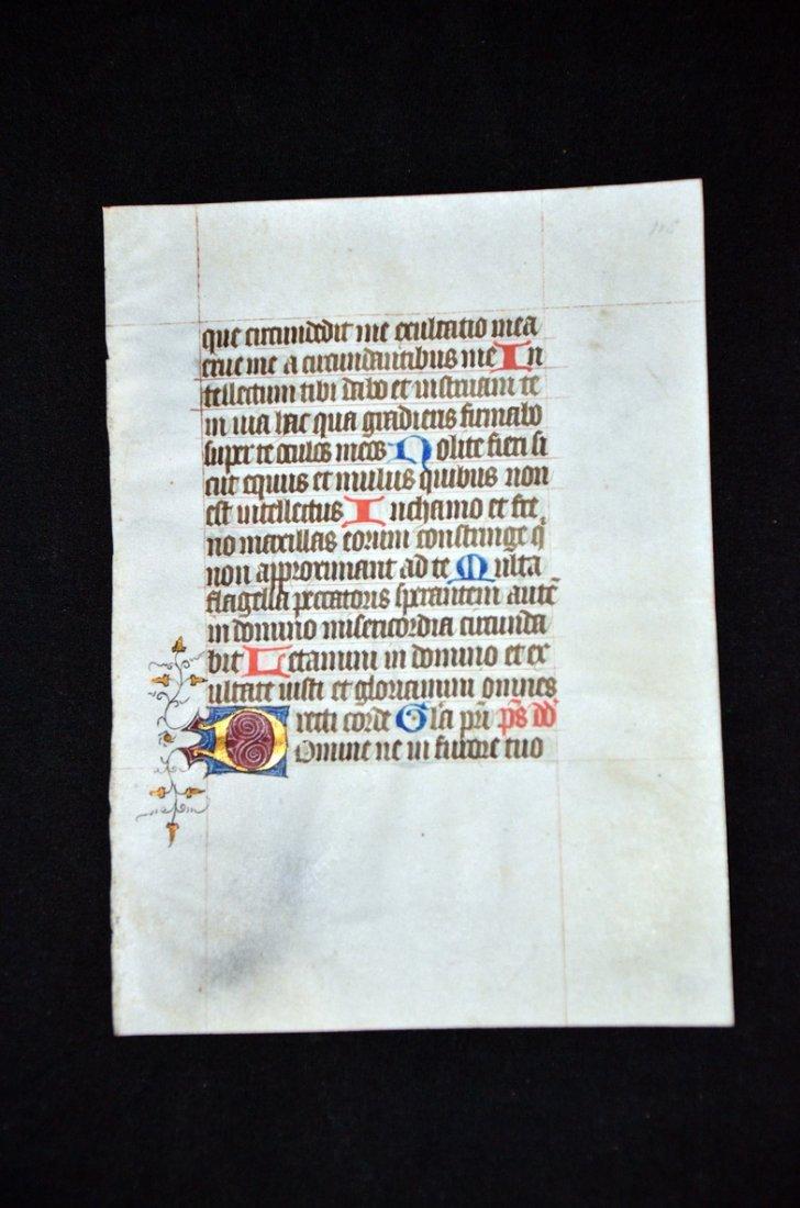 12: [Illuminated Manuscript]. A leaf from a Book of Hou