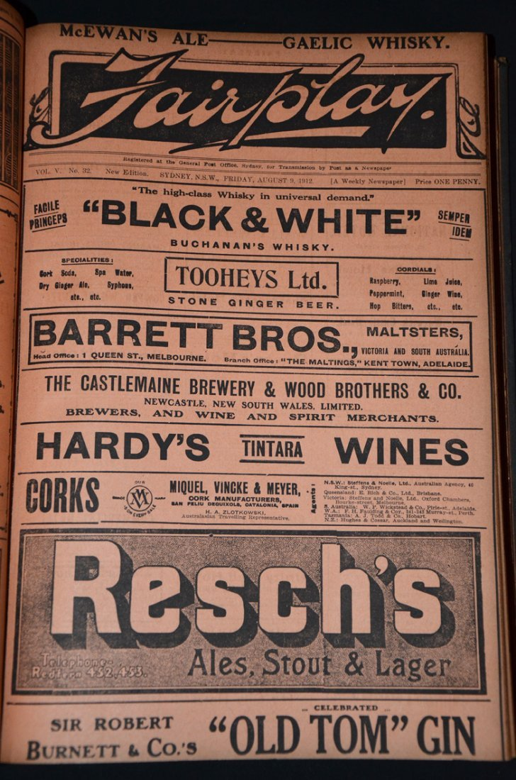 243: Fairplay Sydney Newspaper 1912