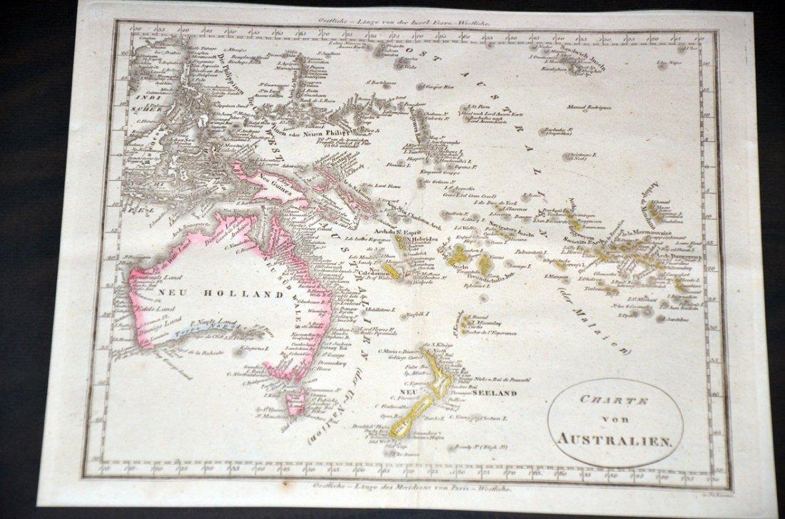 246: 1822 Australian Galletti Map
